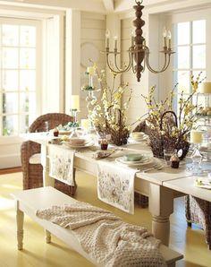 Сервировка стола на Пасху Роскошь и уют