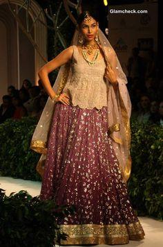 Vibrant Lehengas with Subdued Cholis -  Meera Muzaffar Ali India Bridal Fashion Week 2013