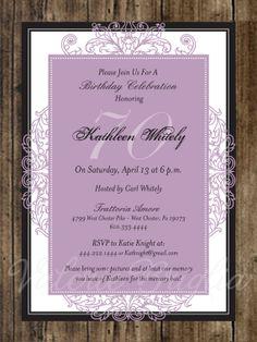Milestone Birthday Or Anniversary Invitation By ValerieBdesign 1500 Printable Invitations Custom