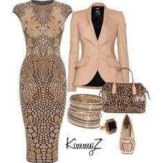 9-5 by zuckie1 on Polyvore featuring Alexander McQueen, McQ by Alexander McQueen, ZiGi Black Label, GUESS, H&M, leopard print and animal print dresses