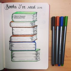 "Mary J. on Instagram: ""Liked this idea from @banjobaby83 so much that I totally had to add this to my bulletjournal. Books of 2016  #bulletjournal…"""