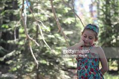 Stock Photo : Girl In Forest