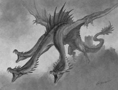 Monster Concept Art, Alien Concept Art, Monster Art, Fantasy Dragon, Dragon Art, Fantasy Art, Dragon Sketch, Dragon Drawings, Fantasy Creatures