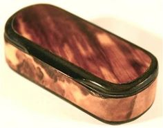 Flat Top Tortoiseshell And Horn Snuff Box - A collection of snuff or other small boxes look nice on a table top. I collect and enjoy small antique boxes.