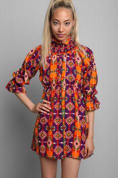 Vintage '60s Psychedelic Print Mini Dress #urbanoutfitters #vintage