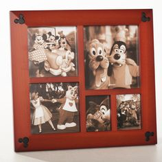 Disney Parks Exclusive Beveled Mickey Icon 5 Multi-Square Cherry Wood Picture Photo Frame * You can get more details by clicking on the image. (This is an affiliate link and I receive a commission for the sales) Disney Photo Album, Disney Picture Frames, Disney Frames, Picture Frames Online, Photo On Wood, Picture On Wood, Picture Photo, Mickey Mouse And Friends, Disney Mickey Mouse
