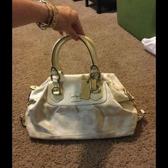 Coach Optic White Bag Coach White Optic handbag. Can be carried with top handles or cross body with long strap Coach Bags Shoulder Bags