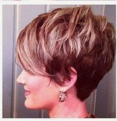 SASSY CUTS~ Shattered, choppy, piecy, textured pixie with a long draped bang! Adorable!