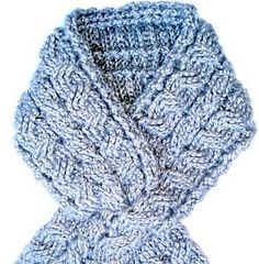 Crochet Cable Neck Wrap: free pattern
