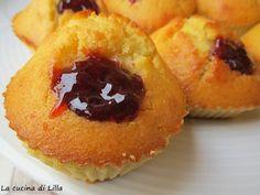 La cucina di Lilla (adessosimangia.blogspot.it): Muffin: Muffin con cuore di marmellata