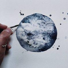 Watercolor Moon Paintings – Fubiz Media