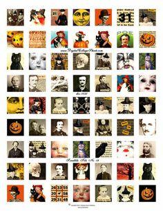 Scrabble Tiles Free Collage, Paper Crafts, Diy Crafts, Halloween Images, Scrabble Tiles, Photo Craft, Digital Art, Fonts, Charms