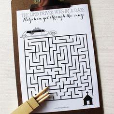 childrens wedding activity book printable