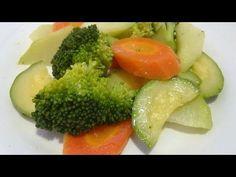 VERDURAS A LA MANTEQUILLA, Escuela de cocina, #27, verduras al vapor