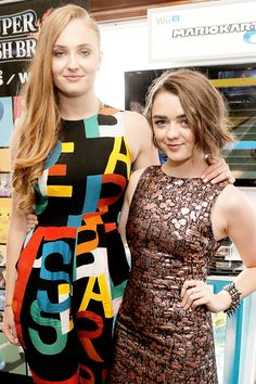 Sophie Turner and Maisie Williams during the 2014 Comic-Con in San Diegp