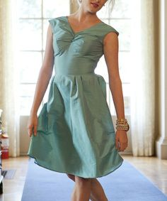 Take a look at this Turquoise Dahlia Dress by Shabby Apple on #zulily today!