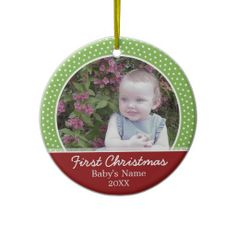 Baby's First Christmas Photo - Single Sided Christmas Ornaments