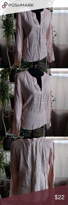 100% linen popover tunic 100% linen  popover tunic  Old Navy  size large Old Navy Tops Tunics