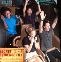 Photo: Olivia Holt And Leo Howard At Walt Disney World Resort February 2014 I love her face that would be me, freakin. Out