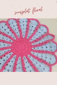 Free Crochet Doily Patterns, Granny Square Crochet Pattern, Crochet Diagram, Crochet Motif, Diy Crochet, Crochet Crafts, Crochet Projects, Knitting Patterns, Doilies Crochet