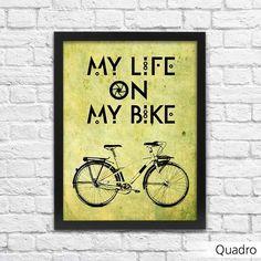 Quadro Bicicleta Decoração - Machine Cult - Kustom Shop   A loja das camisetas de carro e moto