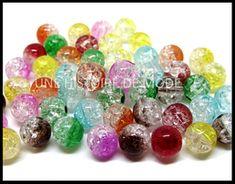 perles acrylique / craquelées - UNE HISTOIRE DE MODE