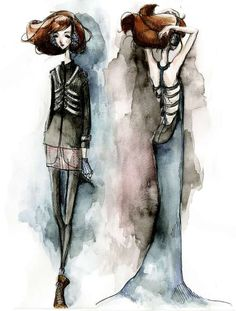 Fashion Illustration by Courtney Wirth, via Behance