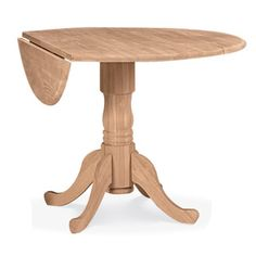Shop for Unfinished 42-inch Round Dual Drop-leaf Dining Table. Get free shipping at Overstock.com - Your Online Furniture Outlet Store! Get 5% in rewards with Club O!