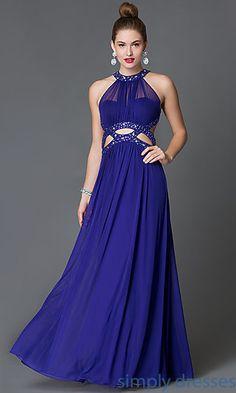 Floor Length Purple Morgan Formal Gown