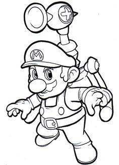 Printable coloring pages  Mario Bros Video Games  Preschool