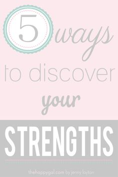 Identifying your strengths is an exciting part of personal growth. Jenny and Matt Townsend discuss five tips for discovering your strengths on his radio show. www.thehappygal.com #thehappygal #strengths #personalgrowth