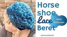 The Horseshoe Lace Beret Hat Circular Knitting Needles, Lace Knitting, Crochet Tools, Knitted Beret, Stitch Book, Purl Stitch, How To Purl Knit, Knitting Projects, Stitch Patterns