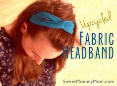 Get more use out of a favorite old T-shirt by turning it into a easy to make quick headband to keep hair out of your face for summer gardening.