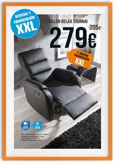 Sillón relax TOURNAI. Oferta válida hasta 31/05/2015. Financiación y montaje incluido, solo en tienda física.