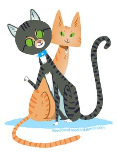 Randys Cats on Flickr.Hey here is another commission. This time I drew Randys cats Merlin and Citrine. Enjoy