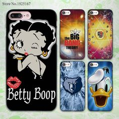 betty boop sweety love design hard black Case Cover for Apple iPhone 7 6 6s Plus SE 5 5s 5c 4 4s