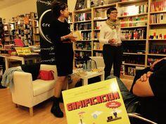 Presentación de 'GAMIFICACIÓN' de Esther Hierro e Imma Marín en la Librería Cronopios de Santiago de Compostela, el 2 de octubre de 2014.