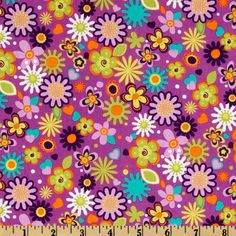 Michael Miller Park Slope Ditsy Floral Jewel from @fabricdotcom  Designed for Michael Miller Fabrics, this cotton print fabric is perfect for quilting, apparel and home décor accents. Colors include purple, orange, lime, teal, white, and lilac.