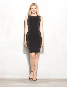 Here's a lovely mix of sparkle and elegance to add to your closet.  This dress is great because it hugs your curves in all the right places, making you catch the eye of everyone around you.   We'll be saving this little number for special occasions, like date night! Hidden back zipper with hook-eye closure. Imported.