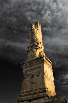 Triton-shaped statue, standing along the former facade of the Odeon of Agrippa in the Ancient Agora of Athens. Ancient Greek Art, Ancient Rome, Ancient Greece, Ancient History, Mykonos, Classical Greece, Greek Culture, Acropolis, Historical Architecture