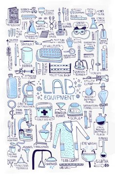 LAB EQUIPMENT | by rachel ignotofsky