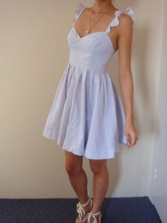 Recycled Curtain Ruffle Strap Dress