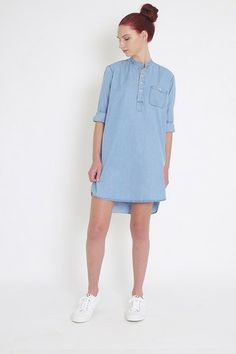 ETHEL LONG SLEEVE SHIRT DRESS (A/W 2014)