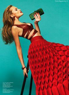 Factice Magazine - red skirt