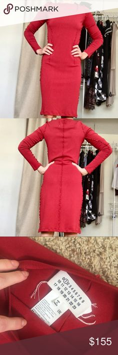 Authentic Maison Margiela dress Excellent condition, will fit on M-S, XS, measurements: bust 36-38, waist 30, hips 36-38 , stretchy material Dresses Midi