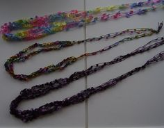 SALE Quick & Easy Crochet Necklace in Butterfly/Flag Yarn