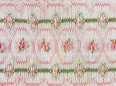 I love this smocking design and these colors