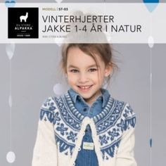 Vinterhjerter genser i natur Baby Barn, Girls, Sweaters, How To Make, Fashion, Catalog, Toddler Girls, Moda, Daughters
