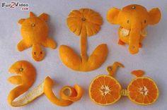 Orange Art Fruit Decoration