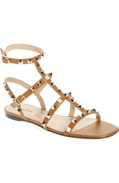7837a193a533f Valentino Rockstud Gladiator Sandal (Women) available at  Nordstrom  Valentino Rockstud Sandals